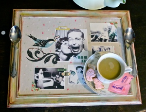 Vintage Heirloom Tea Tray